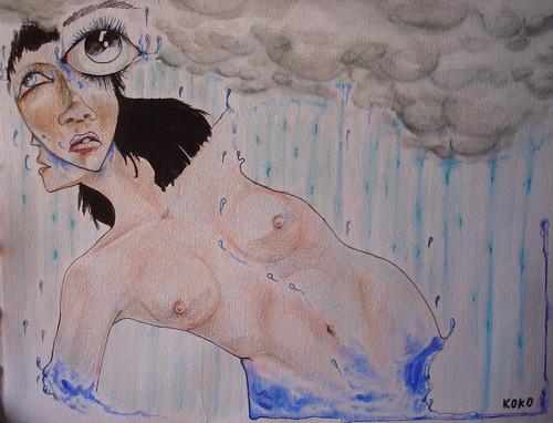 Somos la lluvia que escribe el cielo.