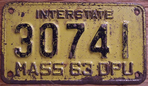 Massachusetts in 1963 — the Ministry. Utilities, cross-border truck plate