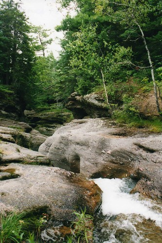canada waterfall stream newbrunswick poley