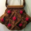 Rosette Square Handbag