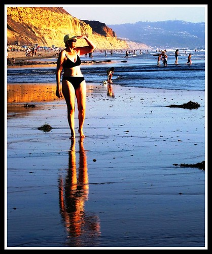 Bikini Reflections , Torrey Pines Beach, California