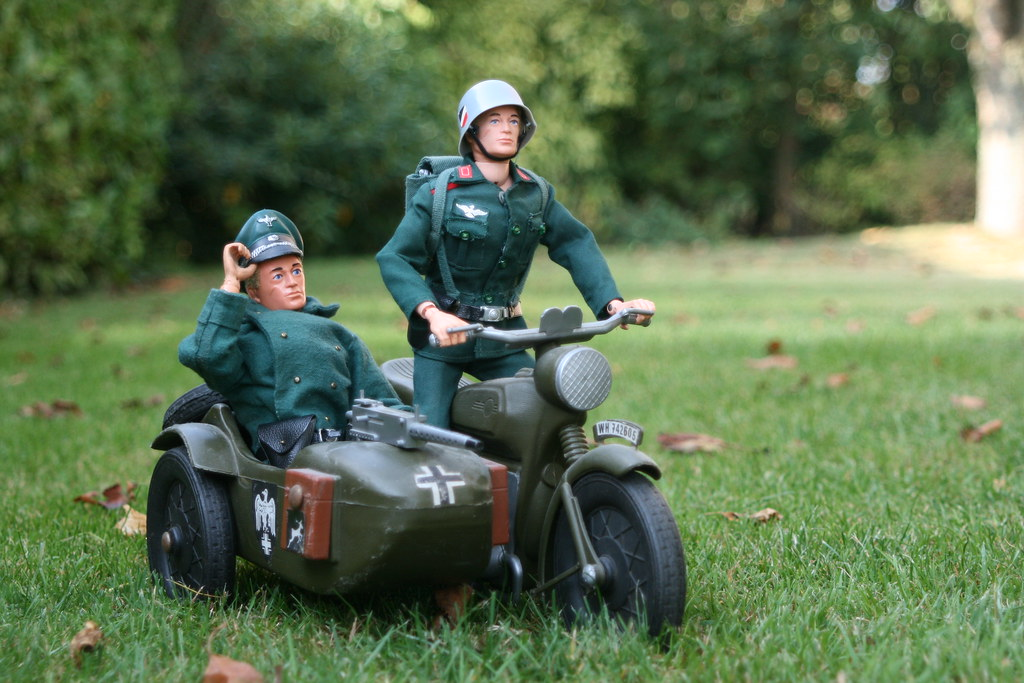 Cherilea German motorcycle with sidecar