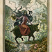 """""""She Rode a Pig"""" 4-color serigraph (~6""""x8"""") by Thomas Shahan 2"""