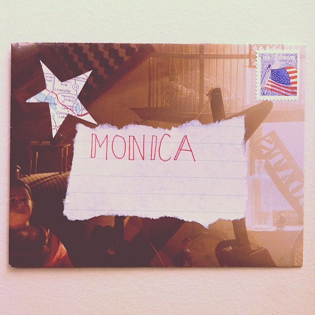 Some #outgoing #mail to my new friend Monica!