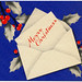 Holiday Card - Blue Holly Chirstmas HM0049 (1)