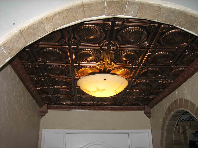 Tin Ceiling Tiles Kitchen Backsplash