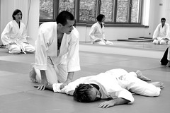 aikido, individual sports, contact sport, white, sports, combat sport, martial arts, monochrome photography, judo, japanese martial arts, monochrome, black-and-white,