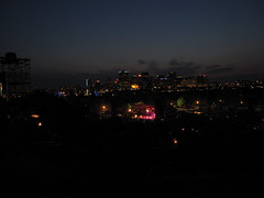 View from the hill at night