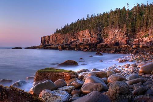 Sunrise at Otter Cliffs