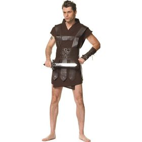sexy warrior adult halloween costumes for men