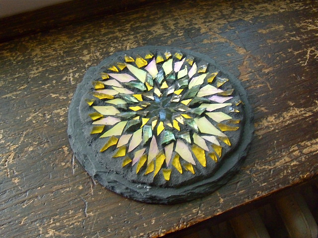 Yellow Sunflower Mandala Glass Mosaic Margaret Almon Flickr