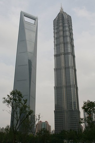 Shanghai's two skyscrapers