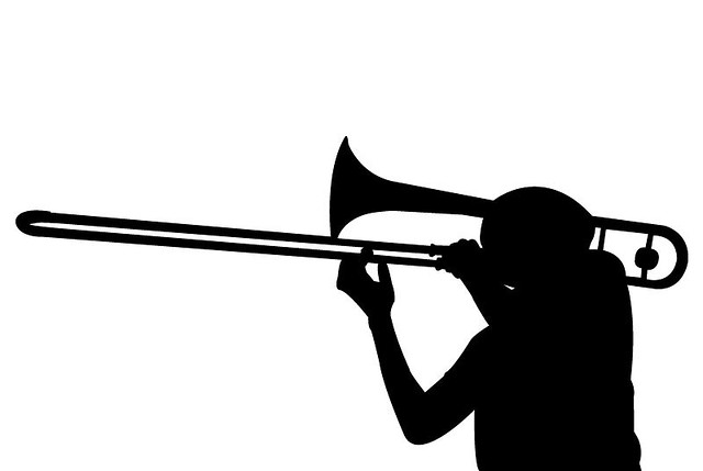 Trombone Silhouette | Flickr - Photo Sharing!