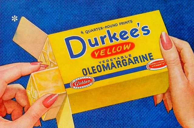 1950s DURKEE Oleomargarine Advertisement Vintage Illustration