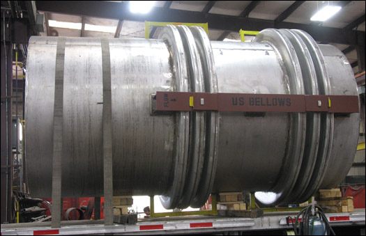 Inch universal flanged and flued head expansion joint