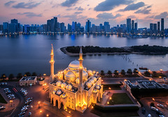 Sharjah, Al Noor mosque / ABM (Another Blue  Monday)