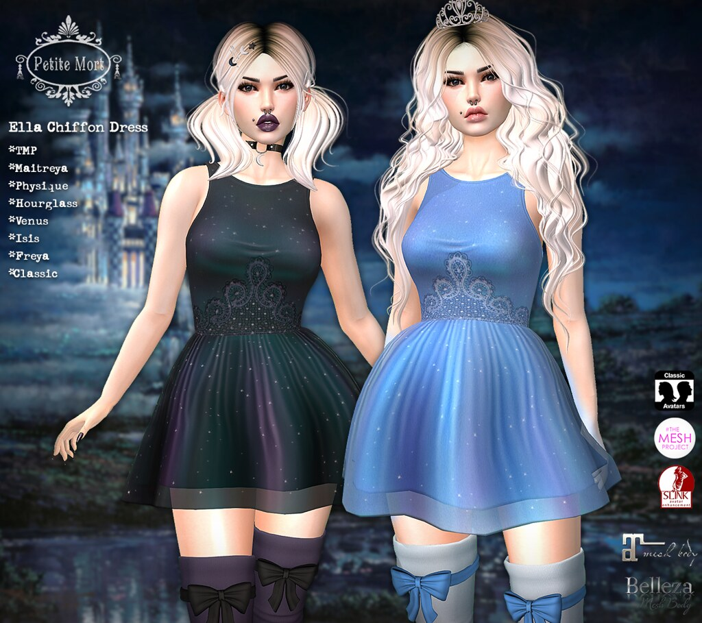 Petite Mort- Ella Chiffon Dress - SecondLifeHub.com