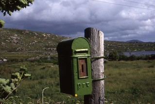 Irish Post Box, the Rosses , Co Donegal  June 1990