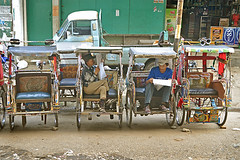 rickshaw, vehicle, transport, street,