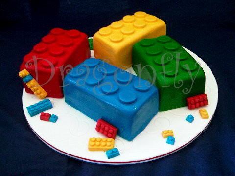 Lego Brick Cake Toppers