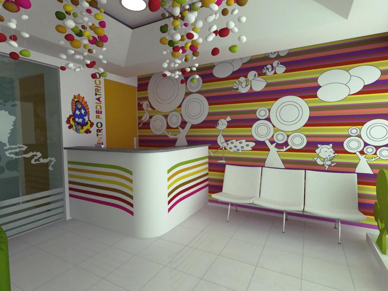 Dise o de espacios consultorio pediatrico recepcion a for Diseno decoracion espacios