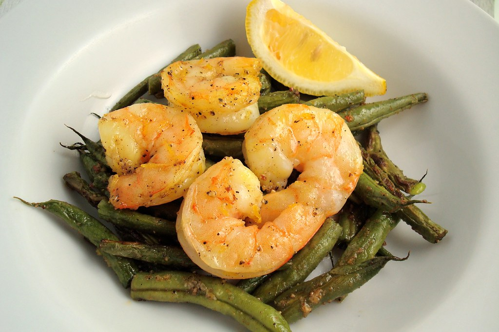 Spicy Roasted Green Beans and Shrimp | Flickr - Photo Sharing!