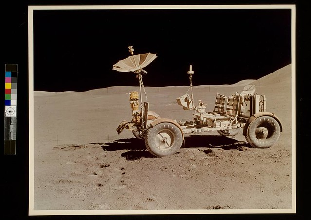Lunar Roving Vehicle (LRV) during the Apollo 15 mission, July, 1971