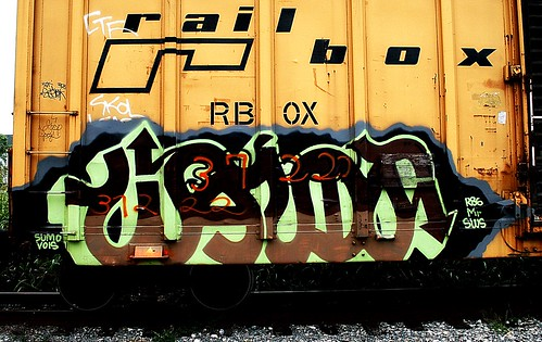 railroad geotagged graffiti stencil kentucky tag tracks railway tags tagged railcar rails sumo boxcar graff graphiti sws capped skol stamped gravel vois trainart str westernkentucky paintedtrain rbox railart railbox 37222 owensborokentucky r86 daviesscountykentucky geo:lat=37772258 taggedboxcar paintedboxcar paintedrailcar taggedrailcar geo:lon=8708431