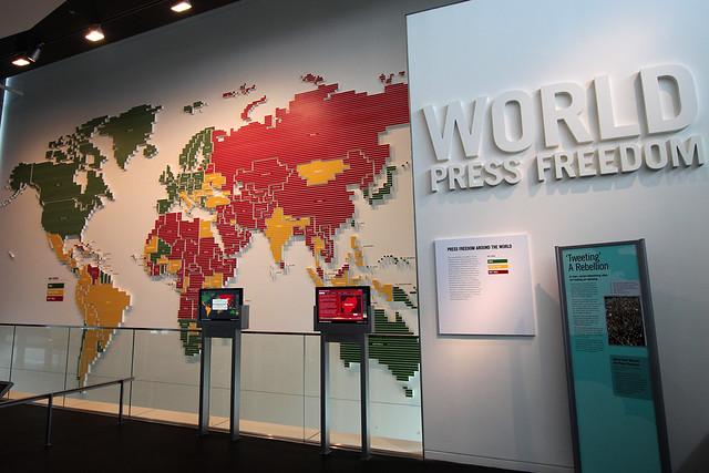 Un mapa con la libertad de prensa