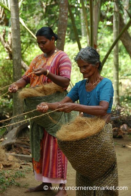 Making Rope - Kerela Backwaters, India