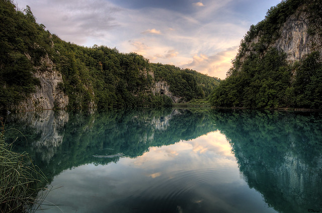 Plitvice Lakes - Sunset Reflection