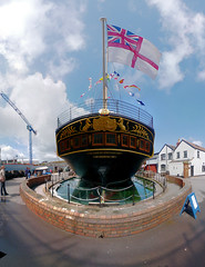 Brunel's SS Great Britain - 14-image panorama
