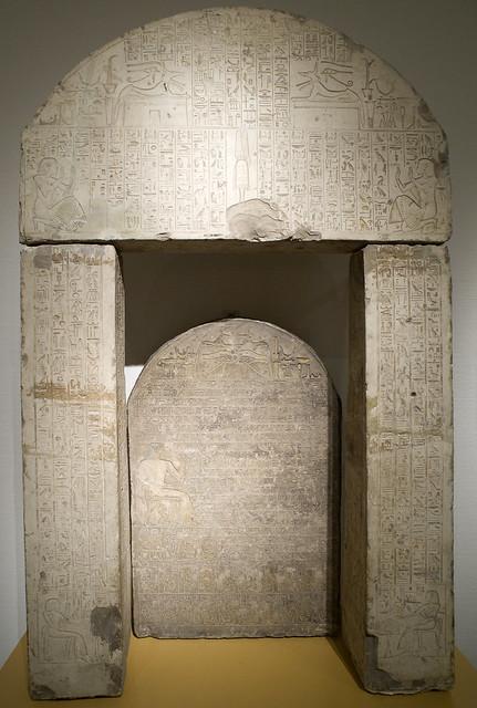 Door frame and stela sculptor Hatiay (RMO Leiden 1330-1320bc Abydos)