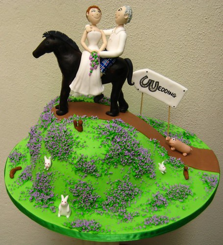 horseshoe wedding cake toppers