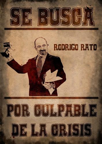 Procura-se Rodrigo Rato, culpado da crise e saqueador saqueador do Bankia. Imagem: Antonio Marín Segovia.