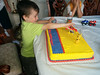 20160712 1917 - Sagan's 5th birthday party - Sagan and his Transformer cake - 37