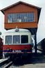 13- Stellwerk und VT3 Esslingen 1952 in Blumberg