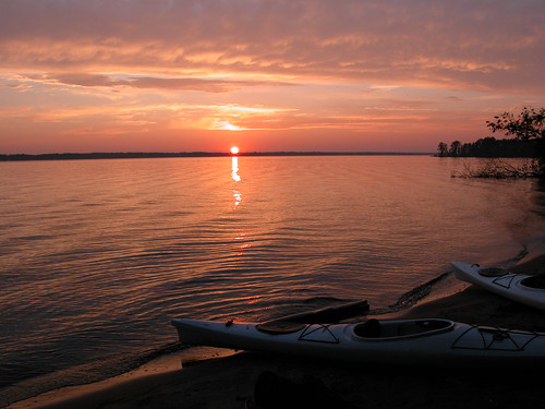 camping sunset wisconsin kayaking castlerocklake buckhornstatepark