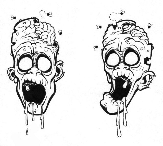 Zombie Tattoo Sketches Zombie Tattoo Flickr Photo