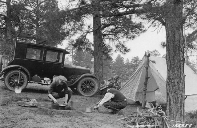 A well-ordered camp, safe, sane, and satisfactory. Manzano National Forest, New Mexico, April 1924, Photographer: George H. Cook