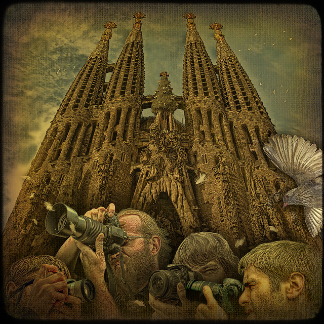 Back to the Future or crazy shooting at Sagrada Familia during its possible Grand Opening in the 2020's...
