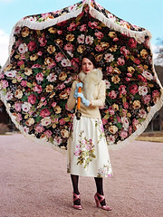 fashion - floral umbrella