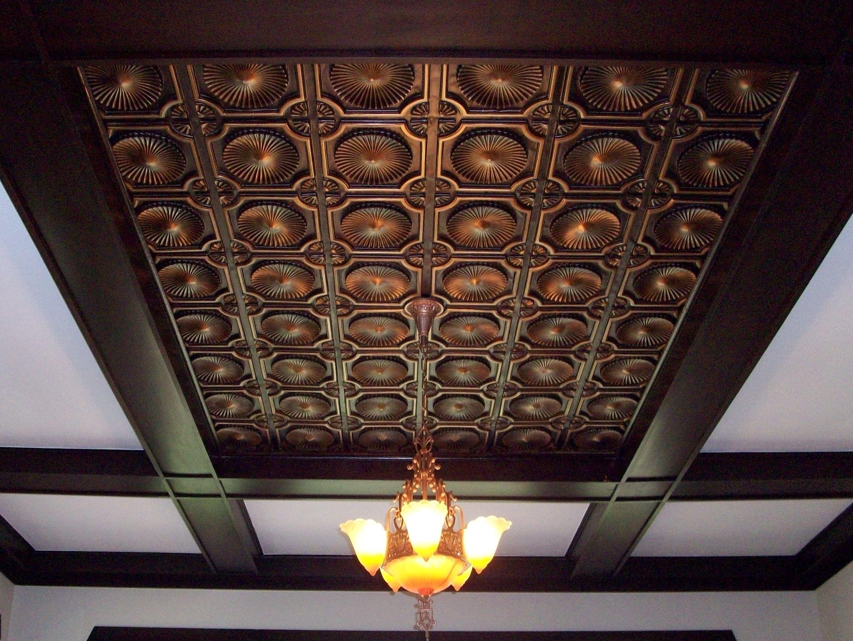 Faux tin ceiling tile 106 Antique Copper