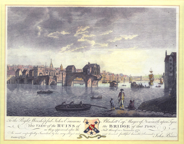 Tyne Bridge Damaged by Floods, 1771