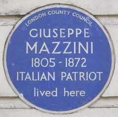 Photo of Giuseppe Mazzini blue plaque