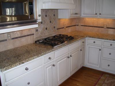 Kitchen tile backsplash corner view flickr photo sharing - Backsplash corners ...