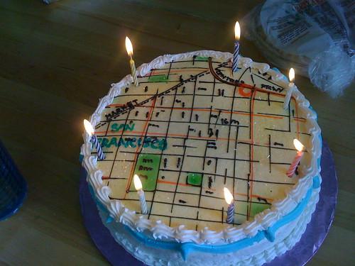 Map Cake