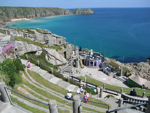 Open Air Minack Theatre at Porthcurno West Cornwall Coast