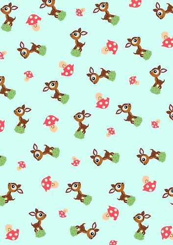Babalisme june printables deer and shroom pattern paper for Cute designs for paper