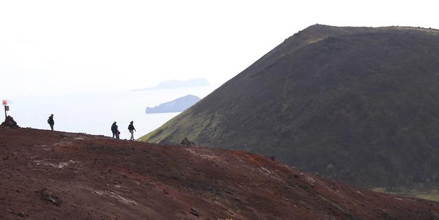Hiking Eldfell Volcano, Heimaey Iceland